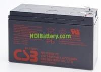 Batería para patin eléctrico 12v 9ah plomo AGM HR-1234W CSB ALTO RENDIMIENTO